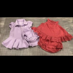 2 Ralph Lauren Baby Girl Dress/Romper (3M)